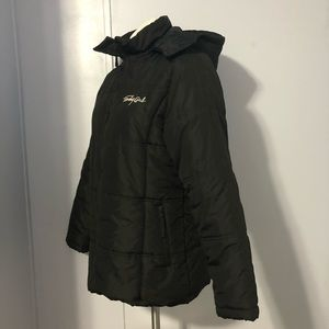 Tommy Hilfiger Jackets & Coats - Vtg Tommy Girl Quilted Puffer Jacket Hoodie XL
